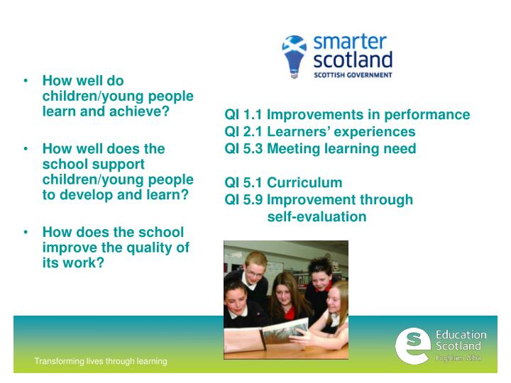 How well do children/young people learn and achieve?