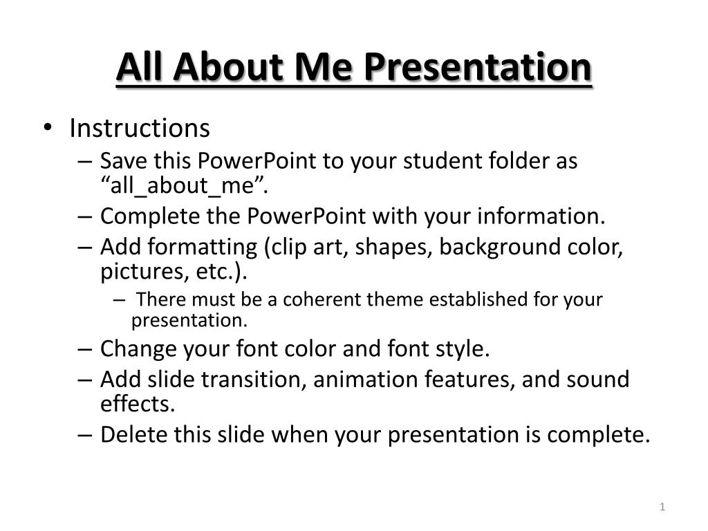 ppt all about me presentation powerpoint presentation id 6301230