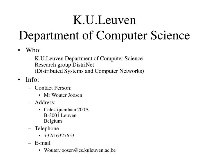 Ppt kuleuven department of computer science powerpoint kuleuven department of computer science toneelgroepblik Images