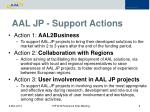 aal jp support actions