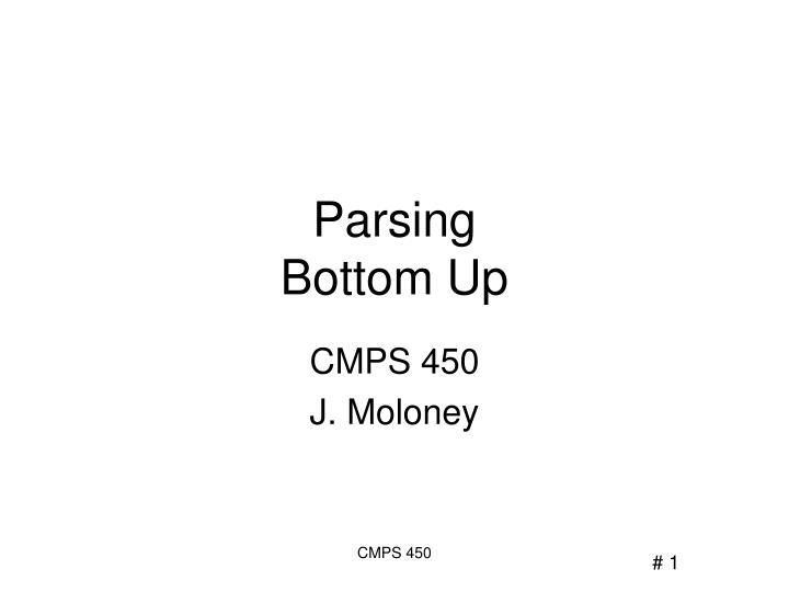 parsing bottom up