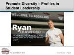 promote diversity profiles in student leadership2
