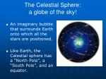 the celestial sphere a globe of the sky