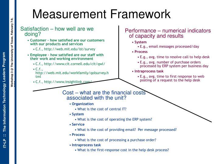 Measurement Framework