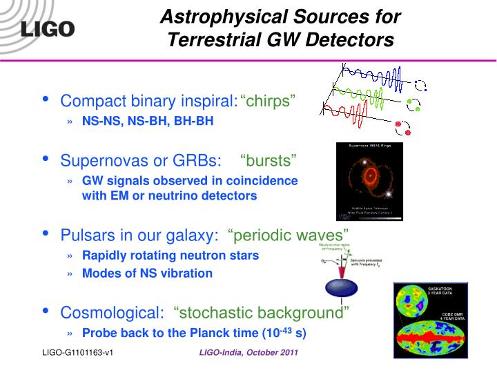 Astrophysical Sources for