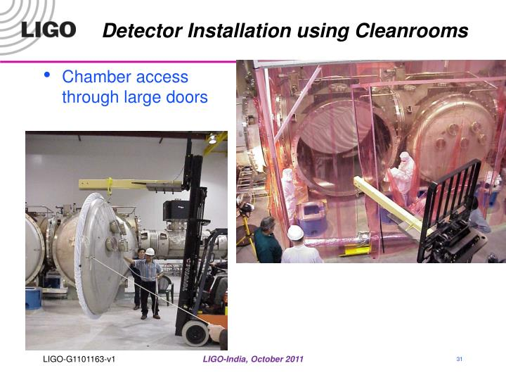 Detector Installation using Cleanrooms