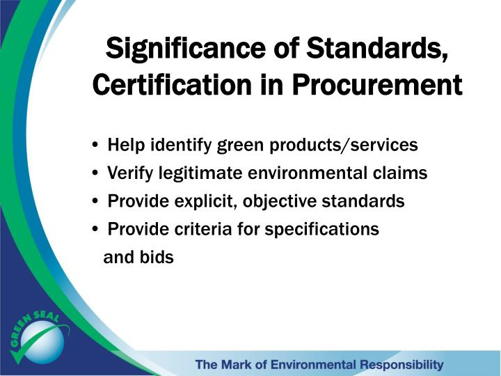 PPT - Green Seal Paint Standards and Certification PowerPoint ...