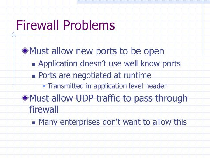 Firewall Problems