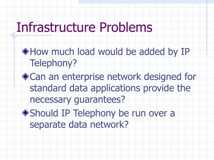 Infrastructure Problems