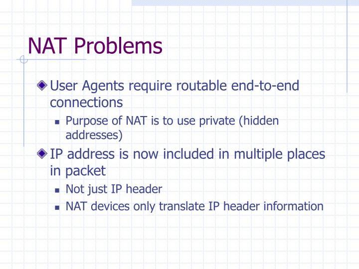 NAT Problems