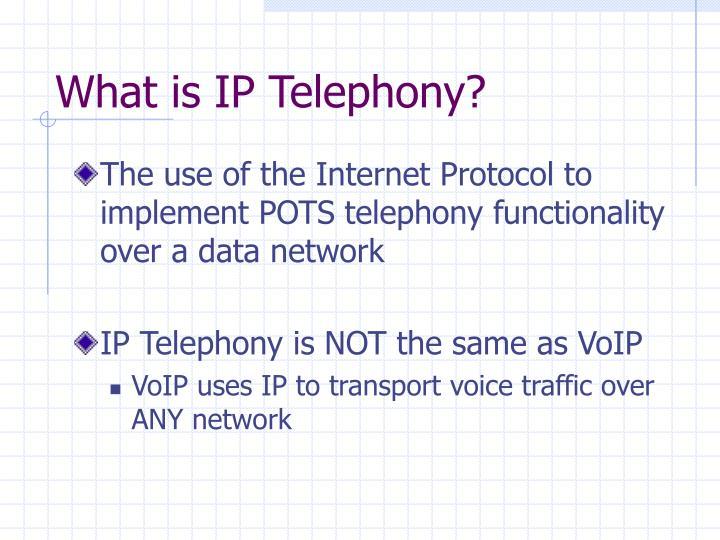 What is ip telephony
