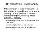 q1 discussion vulnerability