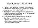 q2 capacity discussion