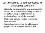 q4 measures to address issues in developing countries