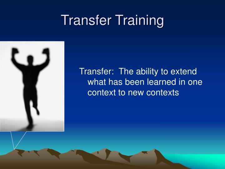 Transfer training1