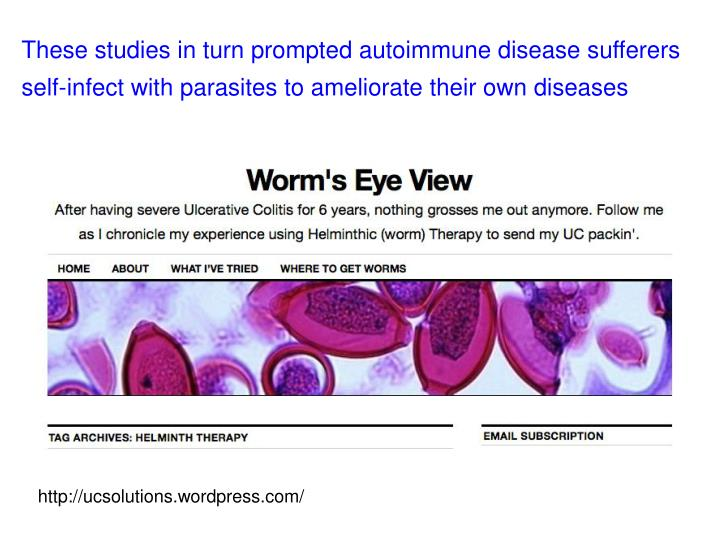 These studies in turn prompted autoimmune disease sufferers