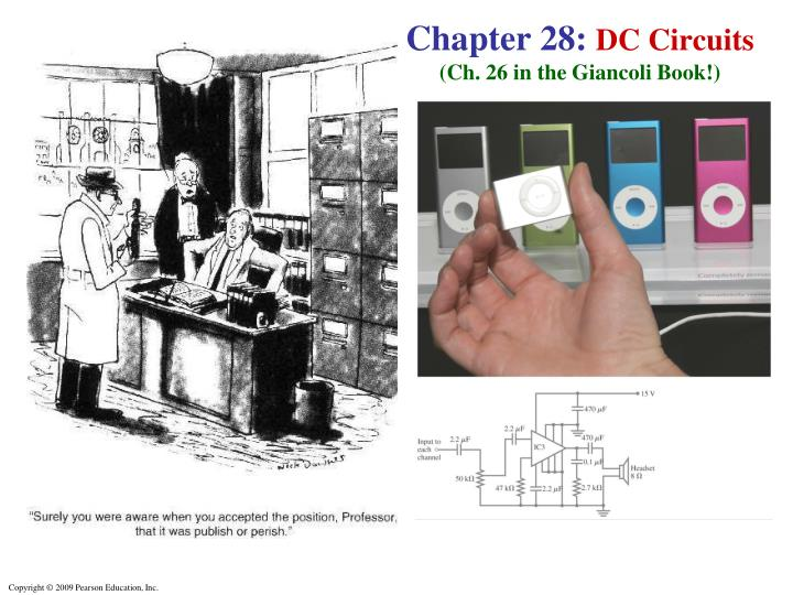 chapter 28 dc circuits ch 26 in the giancoli book n.