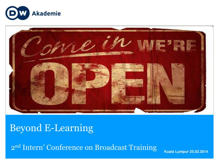 Beyond e learning