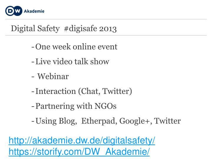Digital Safety  #digisafe 2013