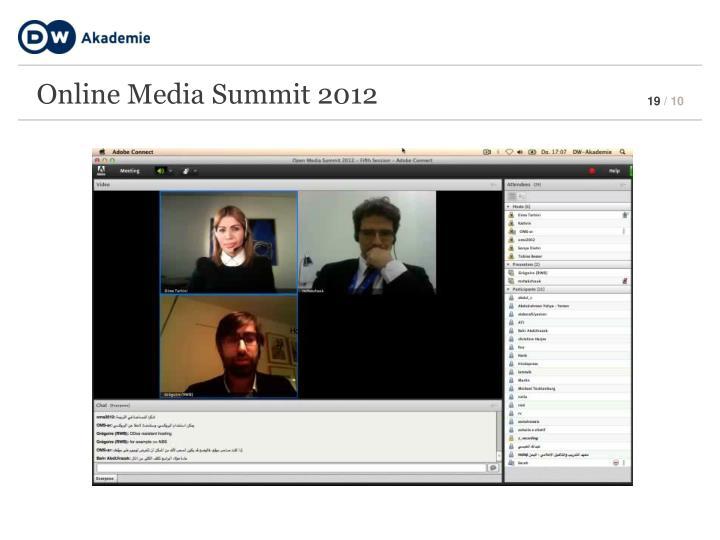 Online Media Summit 2012