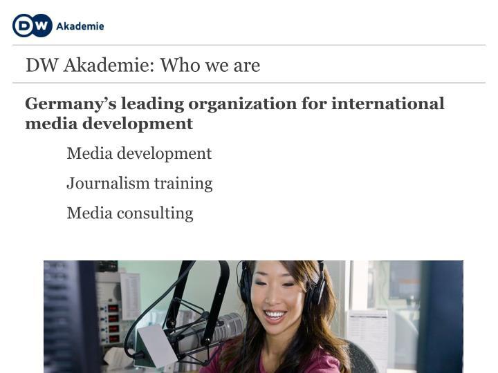 Germany's leading organization for international media development