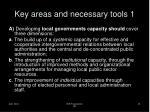key areas and necessary tools 1