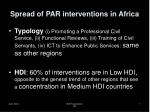 spread of par interventions in africa