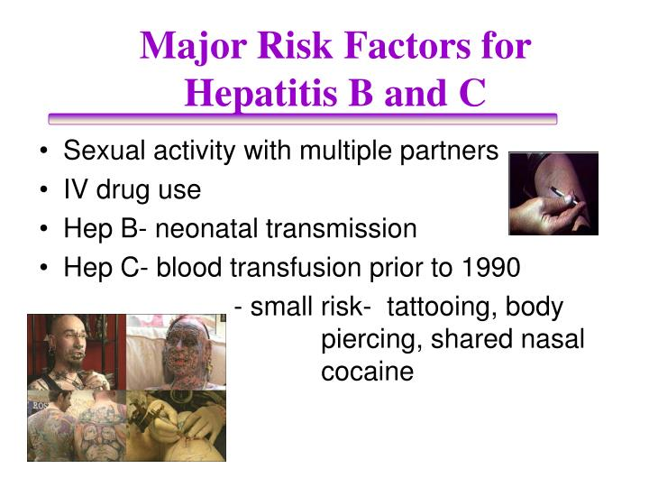 Major Risk Factors for Hepatitis B and C