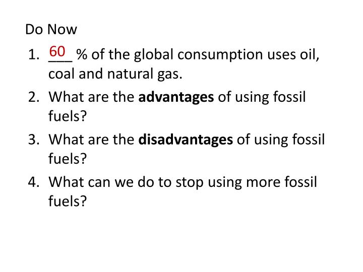 what are the disadvantages of using fossil fuels