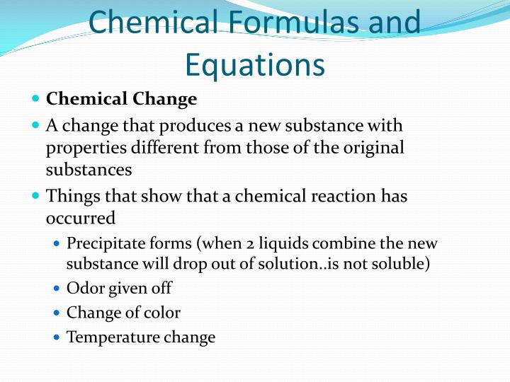 Chemical formulas and equations1