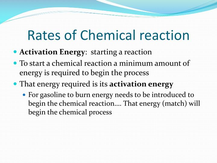 Rates of Chemical reaction
