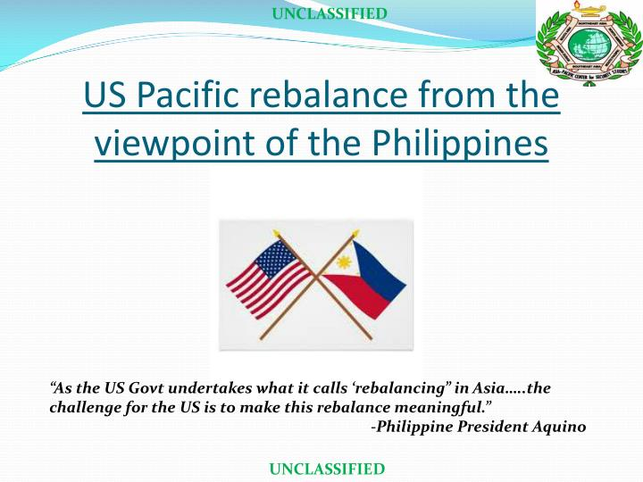us pacific rebalance from the viewpoint of the philippines n.