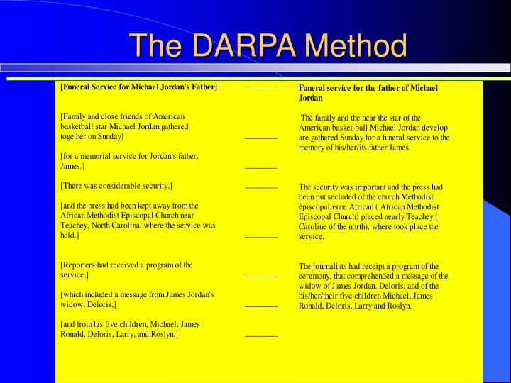 The DARPA Method