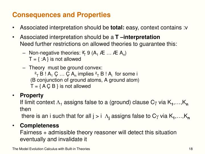 Consequences and Properties