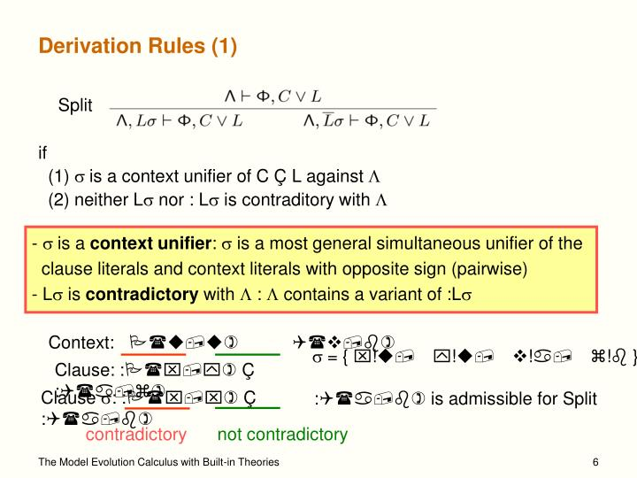 Derivation Rules (1)