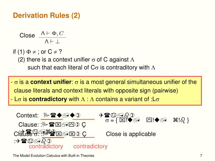 Derivation Rules (2)