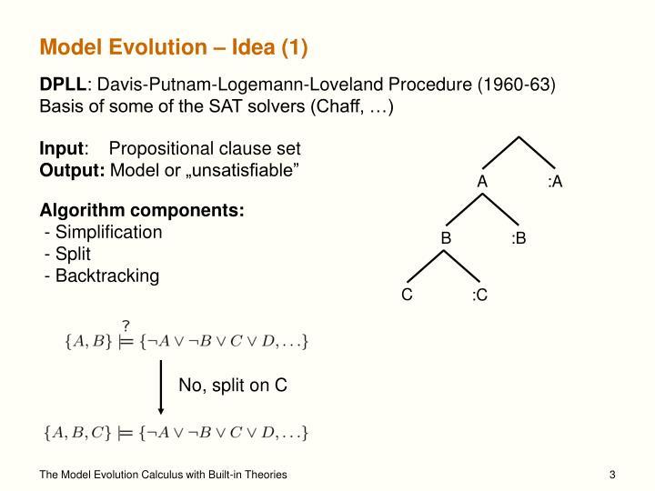 Model evolution idea 1