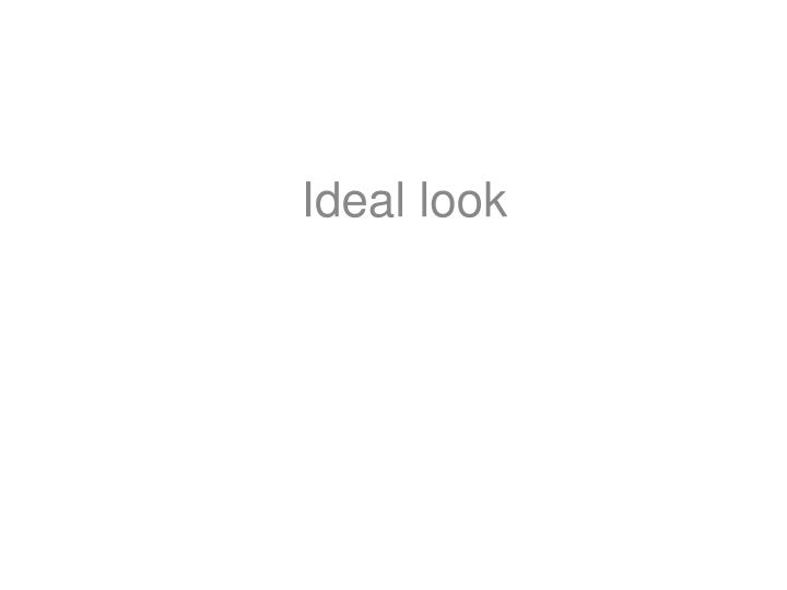 Ideal look