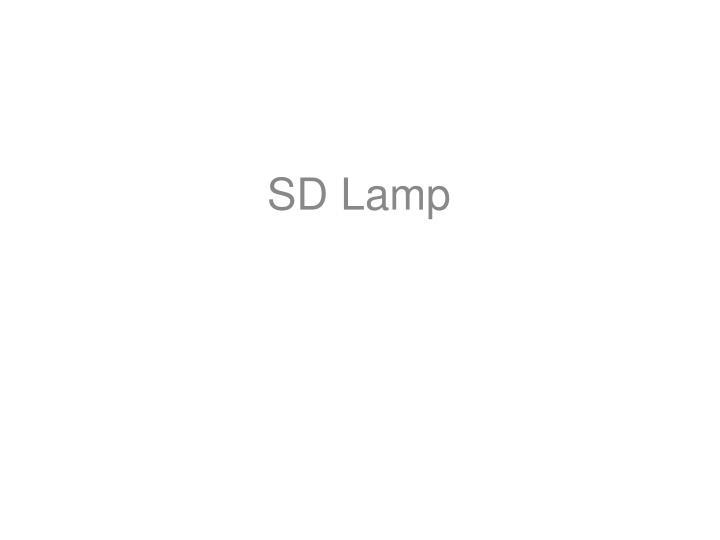 Sd lamp