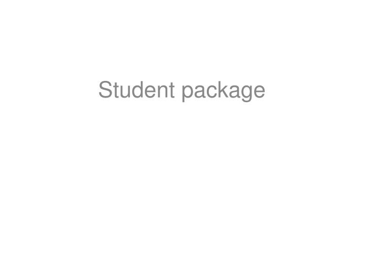 Student package