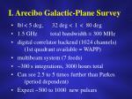 i arecibo galactic plane survey