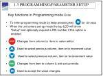 1 3 programming parameter setup