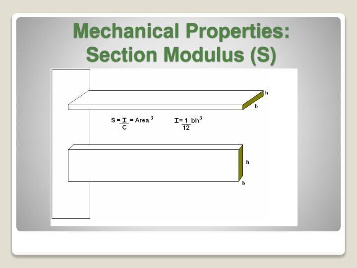 Mechanical Properties: Section Modulus (S)