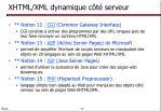 xhtml xml dynamique c t serveur