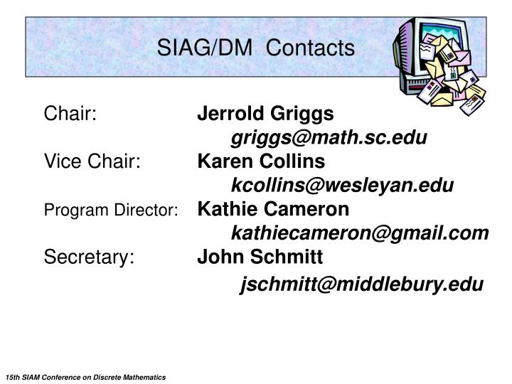 SIAG/DM  Contacts