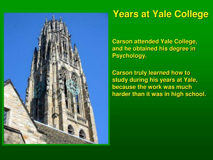 Years at Yale College