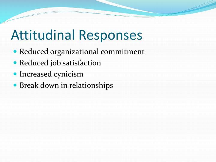 Attitudinal Responses