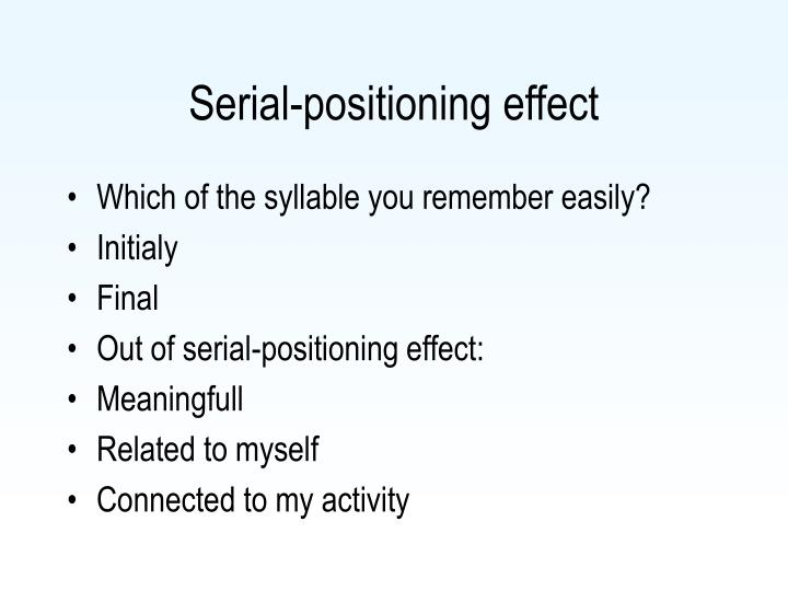 Serial-positioning effect
