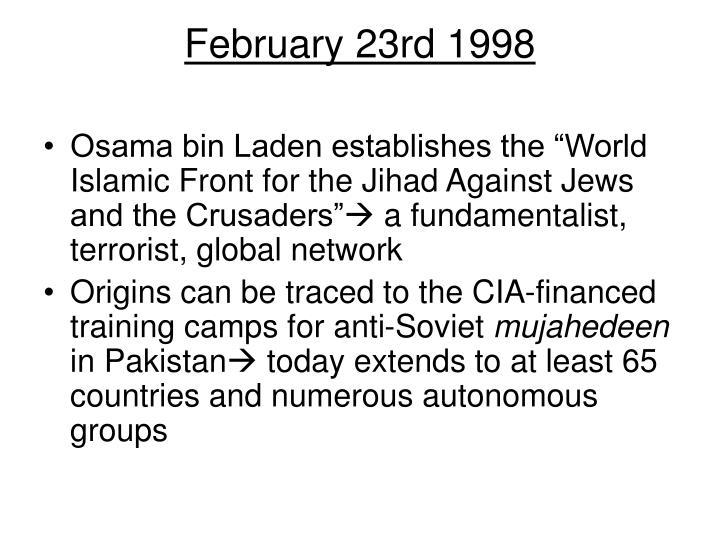 February 23rd 1998