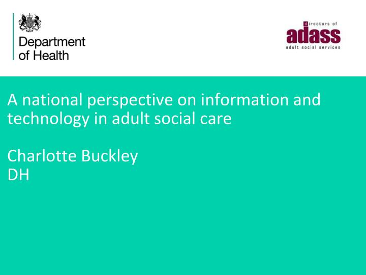 health and social cares perspective of In any health and social care setting communication is extremely important the way we communicate with people depends on the situation and the environment there are different types of health and social care settings some of these include, residential nursing homes, hospitals, doctor's surgery and schools and many more.